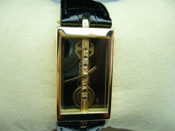 [吉宏精品交流中心]CORUM 崑崙 Golden Bridge 金橋 手上鍊 黃K金 中性腕錶