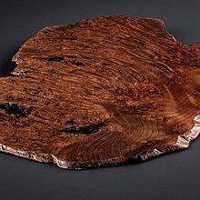 【古珍品】日本茶道具 瘿木天然隨形敷板-2 (可作為茶盤、香爐台、花台、擺件)