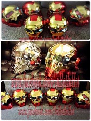 限量版Masei 610電鍍鋼鐵人造型DOT安全認摩托車安全帽/頭盔(電鍍紅金色/電鍍銀色)