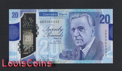 【Louis Coins】B95-NORTHERN IRELAND-(2019)2020北愛爾蘭塑膠紙幣,20