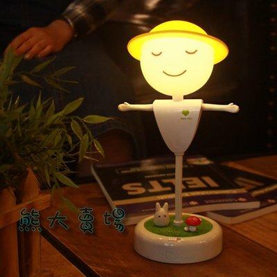 稻草人小夜燈 可定時 柔光燈 檯燈 感應燈 餵奶燈 閱讀燈 USB充電LED燈 鳥籠燈 【HE06】
