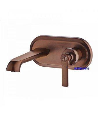 【歐築精品衛浴】BETTOR✰ 美利堅系列古典埋壁式面盆龍頭-古銅色