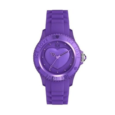 [永達利鐘錶 ] ICE watch 紫色愛心限定橡膠女錶LO.LR.U.S.11原廠公司保固24個月42mm