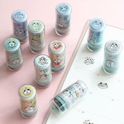 ❅PAVEE❅ 韓國iconic~ MEOW Diary Stamp 貓咪 黑色手帳裝飾連續印章