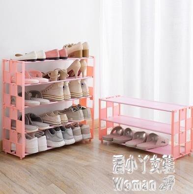 多層無紡布鞋架整理架創意多功能簡易鞋子置物架簡約組裝宿舍『鑽石女王心』