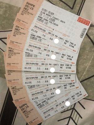 原價出售I love you boy'z艾粒 香港演唱會 20192019年4月6日 星期六 全場第二排 BB行連位