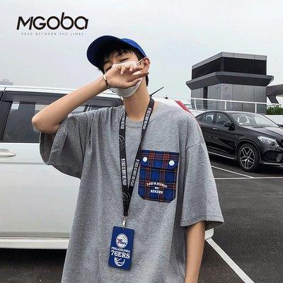 有家服飾格子口袋短袖T恤2019夏季男...