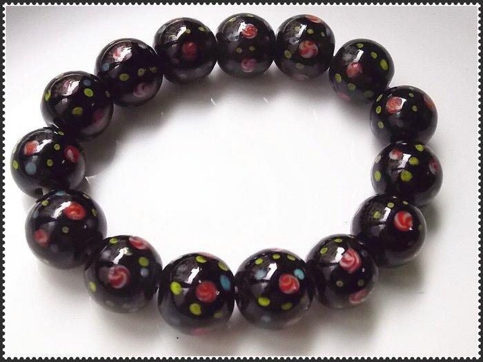 【雅之賞|藏傳|佛教文物】*特賣*尼泊爾古法手工15mm琉璃手珠~102418