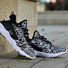 D-BOX NIKE AIR HUARACHE 黑白 編織 個性潮流 慢跑鞋 男女運動鞋