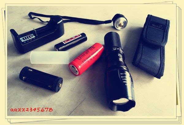 本月特賣 可26650/3電力新款CREE XML-T6強光手電筒【全配】台制三洋電池 伸縮變焦遠射.北極星