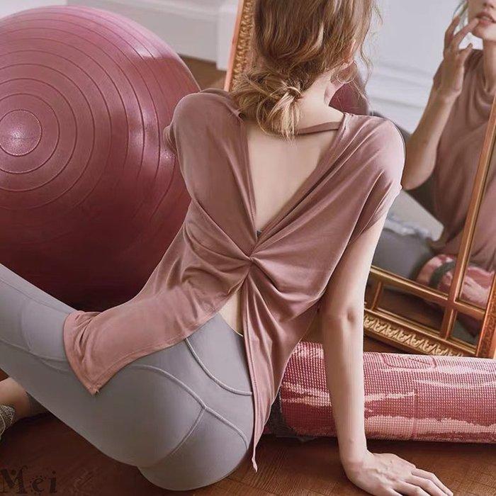實拍※ 運動上衣 美背性感開叉運動罩衫 運動T恤 休閒上衣 瑜伽服 寬鬆上衣 短袖T恤 舞蹈服 健身罩衫 短袖上衣