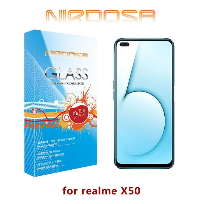 【愛瘋潮】NIRDOSA realme X50 5G 9H 鋼化玻璃 螢幕保護貼 防爆 防塵 抗刮