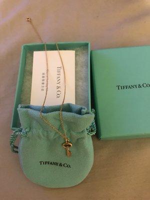 Tiffany k金鑰匙項鍊