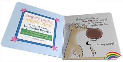英文原版進口啟蒙繪本 Happy Hippo, Angry Duck: a book of moods 情緒管理 兒童紙板書 名家作品 Sandra Boyto