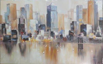 聚鯨Cetacea﹡Art【Light of city II / MW】進口油畫 無框畫 手繪油畫 城市之光