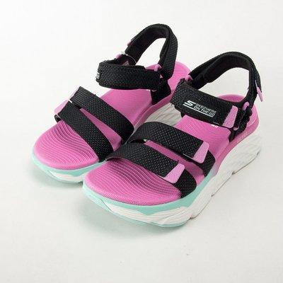 Skechers MAX CUSHIONING SLAY  女款 輕量 運動涼鞋 140120BKMT  現貨 大尺碼
