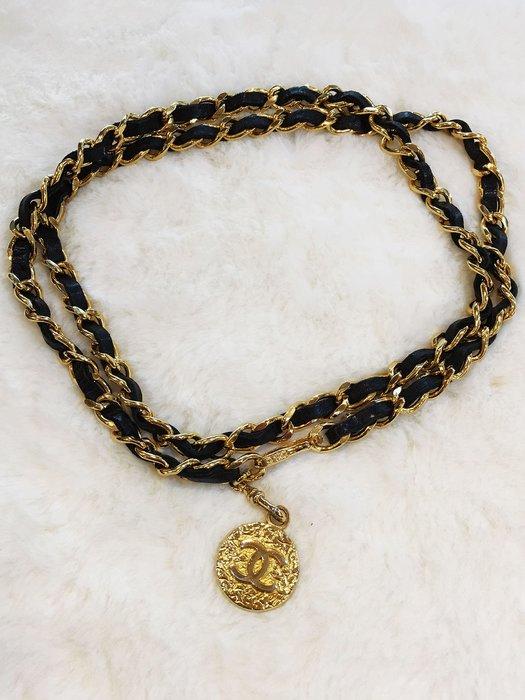 旺角名店 Chanel logo 金幣 腰鍊