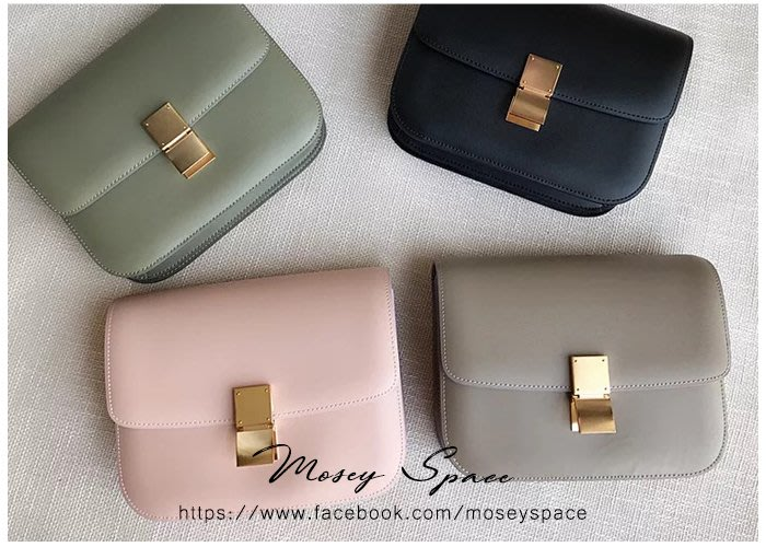 Mosey Space【B1717-L】真皮訂製款 牛皮時尚簡約手搓紋小方包 歐美街拍/classic box