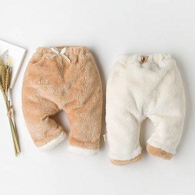 【可愛村】哈倫羊羔絨加厚保暖褲 褲子 童裝 加絨褲