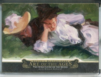 2014 UD Goodwin Art of Ages John Singer Sargent Two Girls Lying on the Grass