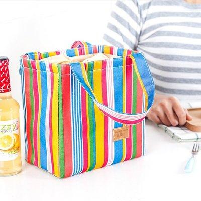 飯盒袋便當包手提包小清新大號帆布袋保溫袋保鮮袋便當手提包