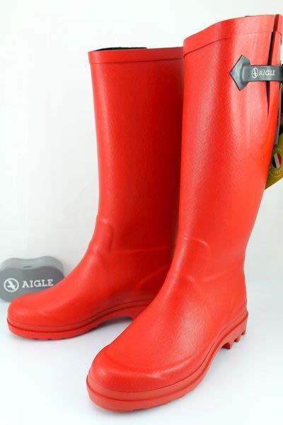 INDiCE ↗ AIGLE Aiglentine 斜口彈性經典手工雨靴 法國製 熱情紅