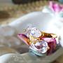 黑爾典藏西洋古董 ~  歐美奢華鑲嵌梨形交錯愛...
