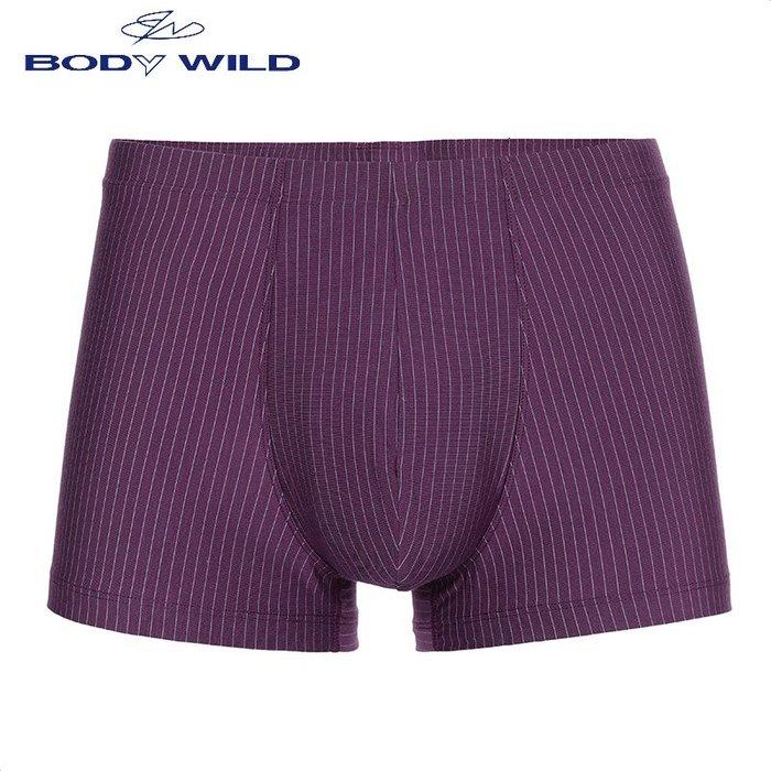 創意 舒適 愛慕旗下寶迪威德商務豎條紋內褲 男士莫代爾中腰平角褲 ZBN23JB1