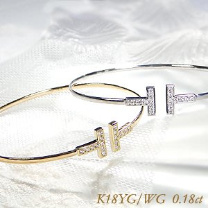 *misaki*の日本Jewelry純代購【日本網路飾品】【天然鑽石18分】 18K金手環【2種K金】【山梨 昭和店 】