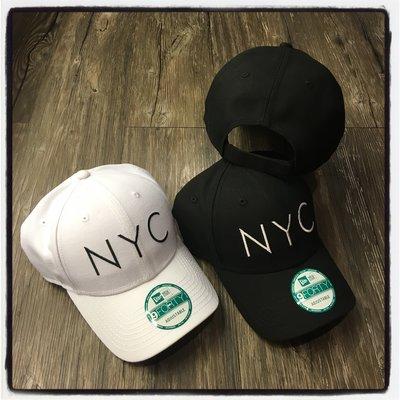 【Dangerous】NEW ERA MLB 紐約 NYC 黑/白 9FORTY 彎帽 魔鬼氈 老帽