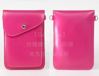 【GooMea】3免運Huawei華為 Y5(暢享8E青春版) 雙層斜背 掛脖 皮套 掛頸 手機套 多色