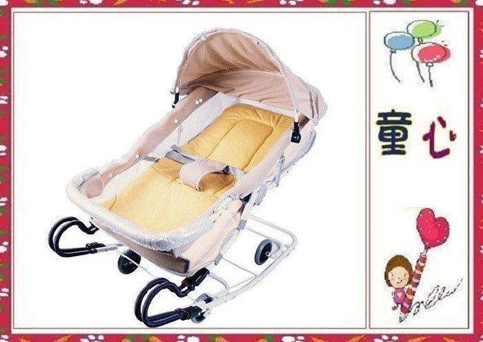 《MONARCH 》雙管加寬六段式彈簧搖椅~椅背可調整~可調成半坐姿~附蚊帳◎童心玩具1館◎