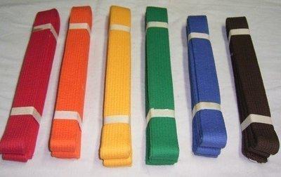 濟武:道帶(白.紅.橙.黃.綠.藍.紫.咖啡)八種顏色(台灣製)(15條以上歡迎團體訂製)