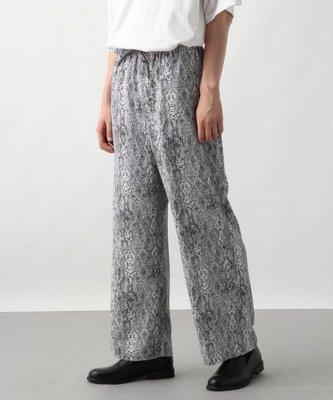 【傑森精品】日本 HARE 個性 蟒蛇紋 寬鬆 闊腿 直筒 休閒褲