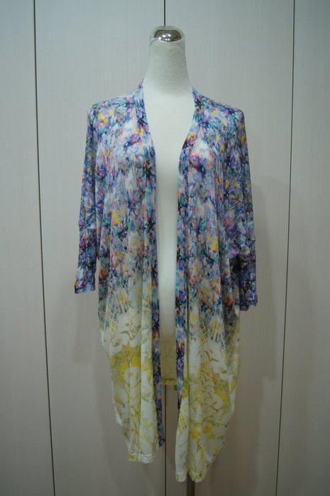 MARY KATRANTZOU 紫色漸層長版針外套     原價   39600    特價8600