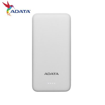 威剛 ADATA T10000 行動電源 10000mAh 白色 薄型行動電源 簡約輕便 (AD-T10000-W)