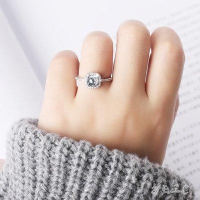 s925純銀日韓簡約氣質創意開口方形鋯石戒指tz7434