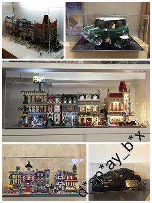 訂造: 展示箱 Display LEGO 60004 60098 60124 60125 Maersk Porsche Bearbrick QMiniMe