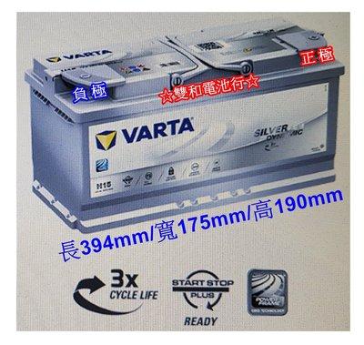 ~雙和電池~德國VARTA華達 指定H15 AGM電瓶 105AH ~賓士 BMW 奧迪 福斯,網友折扣
