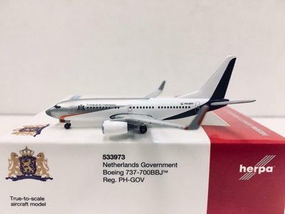 Herpa 1:500 533973 波音 737-700BBJ PH-GOV 荷蘭政府專機  免運