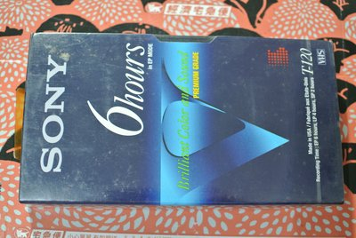 VHS 空白帶 ~ SONY VHS  VIDEO TAPE ~ T-120VE USA MADE