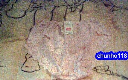 全新 Triumph 黛安芬 粉橘色蕾絲(內褲)三角褲(L)---兩件一起免運費(女)