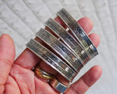 殿堂級 NORTH WORKS 純銀900手工打造 頂規雙層摩根銀幣手環