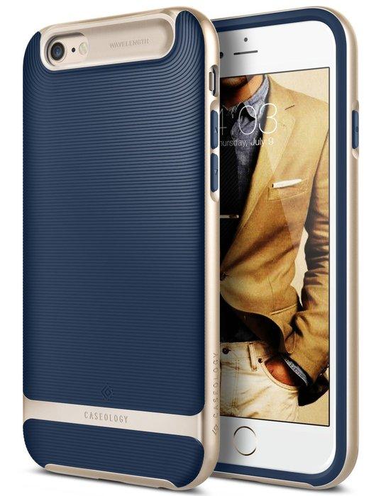 """全新 Caseology Wavelength iPhone 6 6s 4.7"""" 水波紋雙層手機殼 矽膠保護套 深藍色"""