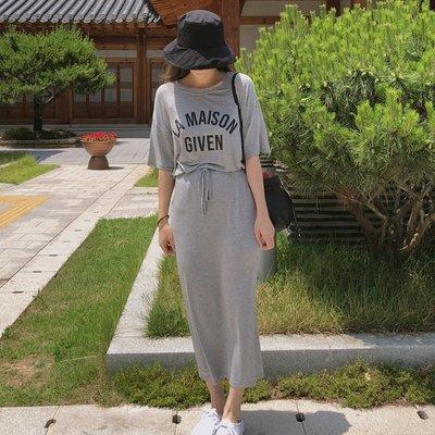 Forever Kids 正韓  一套字母上衣+窄裙棉套裝【F1891】