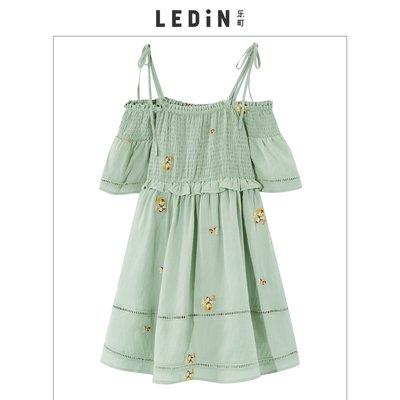 2019夏新很仙的法國小眾桔梗裙連衣裙C2FA92502《拾月生活小鋪