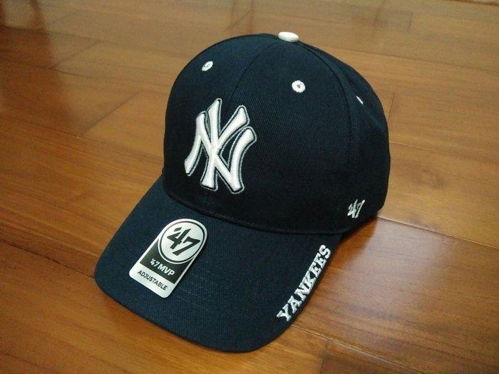 MLB 大聯盟47 Brand 紐約洋基隊 棒球帽 白標深藍色 現貨!!