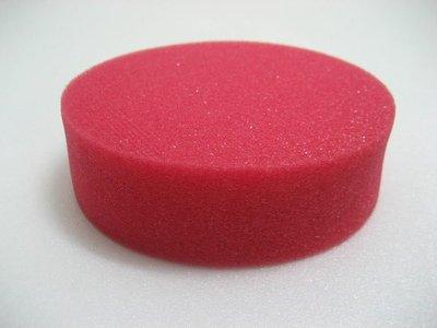 愛車美*~Red Euro Foam Applicator高密度細緻上蠟海綿