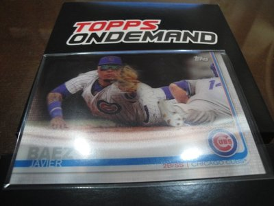 現貨 MLB 2019 TOPPS ON-DEMAND 3D 棒球 球員卡 JAVIER BAEZ 哈維爾 拜野茲