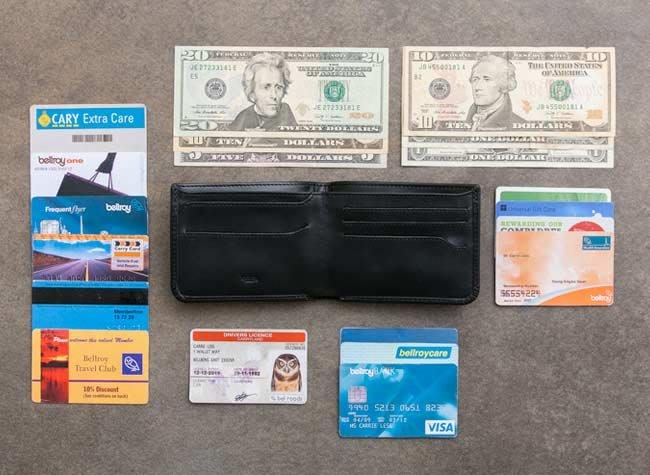 【Bellroy】澳洲時尚皮夾現貨,輕薄8.5cm款真皮橫式全黑色短夾HIDE,可放10張卡及隱藏夾層設計